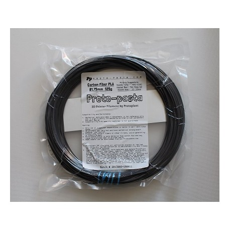 PLA Fibra de Carbono 1.75mm|125gr