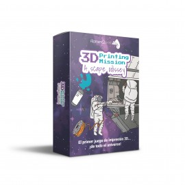 Juego de cartas 3D Printing Mission · A Scape Odissey