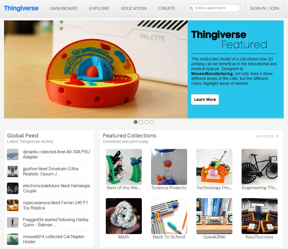 Image result for thingiverse best site