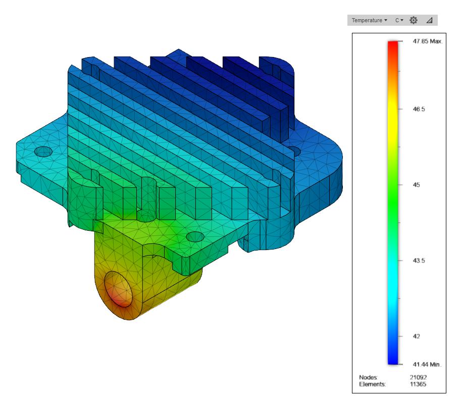 Gráfica de temperatura del disipador E3D