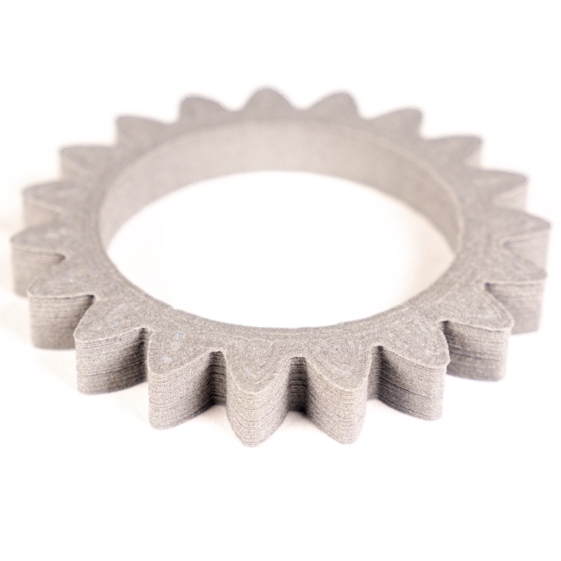 Gear made of 6061 aluminium without sintering
