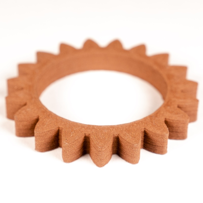 Gear made of copper without sintering