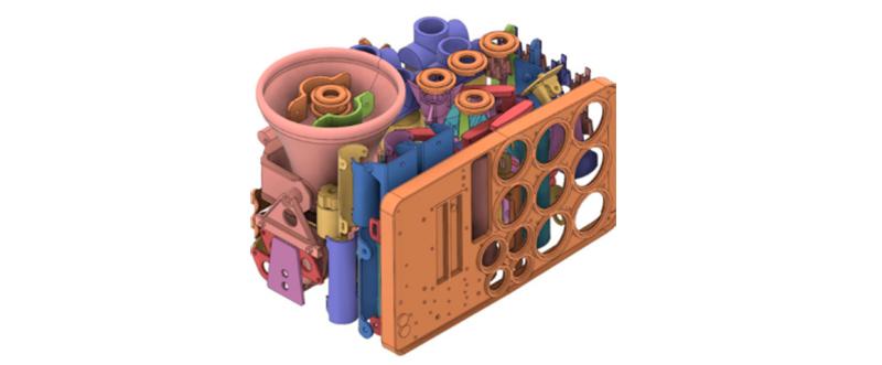 Configuración de impresión 3D de varias piezas.