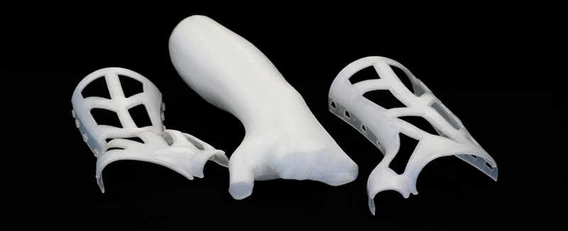 Parts printed with PPprint 721 filament and P-Support 279 backing filament