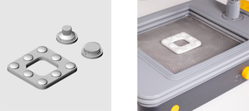 Button creation process.