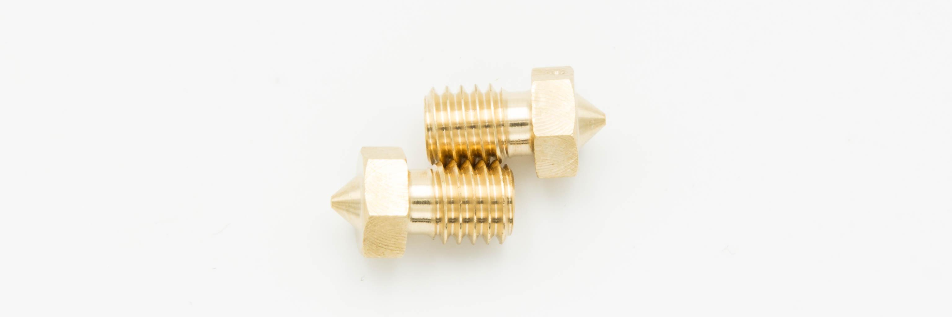 Comparaçao de nozzles da impresora 3D