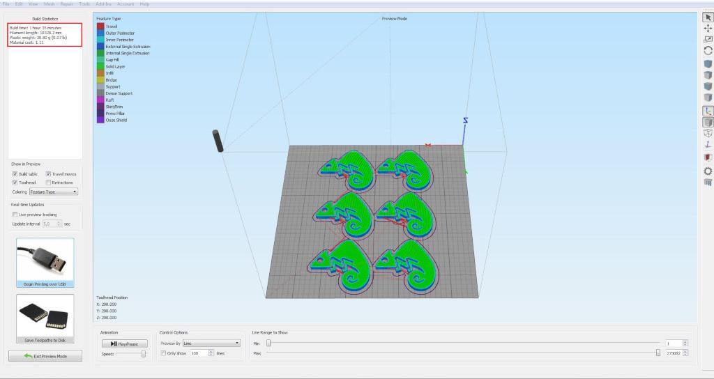 Peso de las piezas impresion 3D