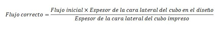 Fórmula para calcular el flujo necesario para cualquier material