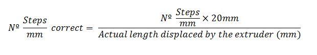 Steps/mm flow formula