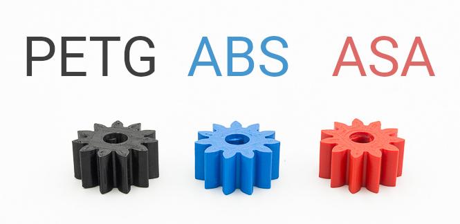 PETG vs ABS vs ASA