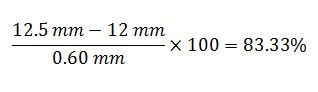 Formule avec valeurs d'usure de la buse