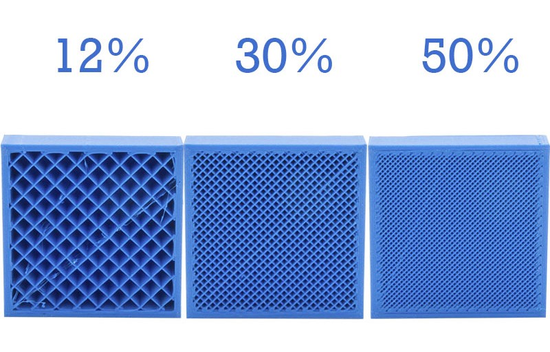 Different infill percentages