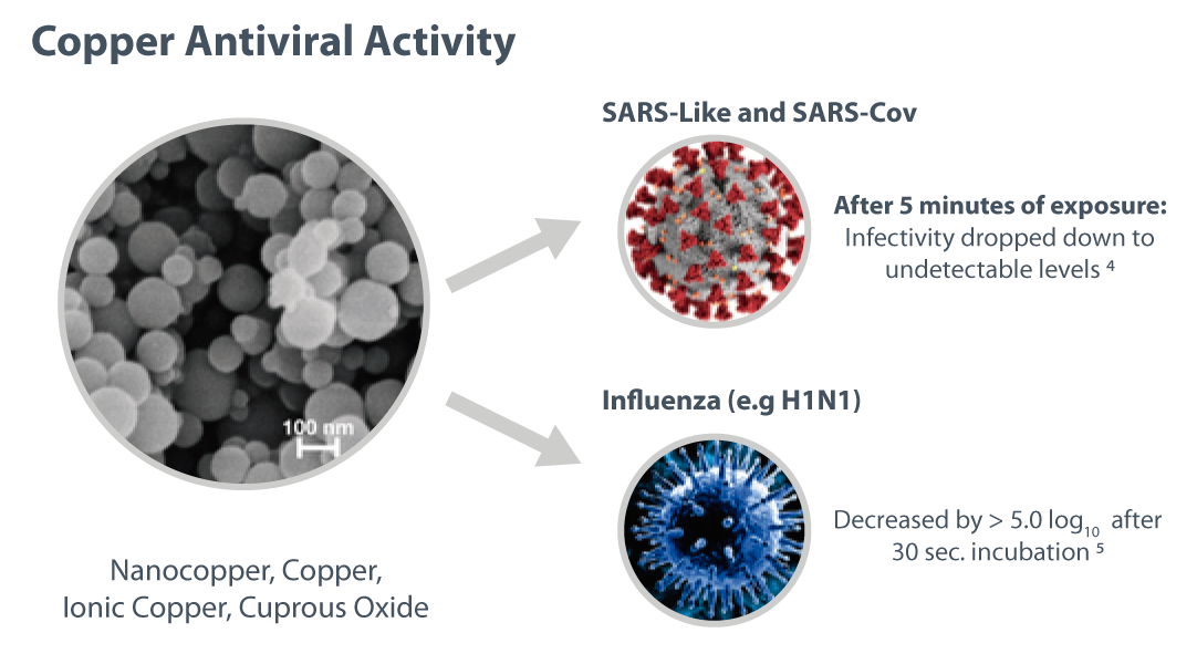 copper antiviral activity