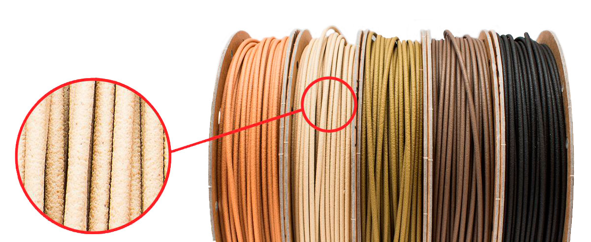 EasyWood filaments and tecturing.