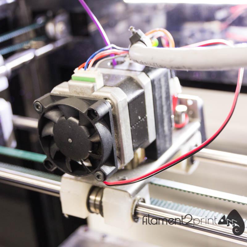 Motor fan for 3D printer installed