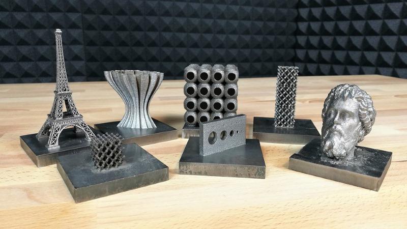 Pièces fabriquées avec Sharebot MetalOne