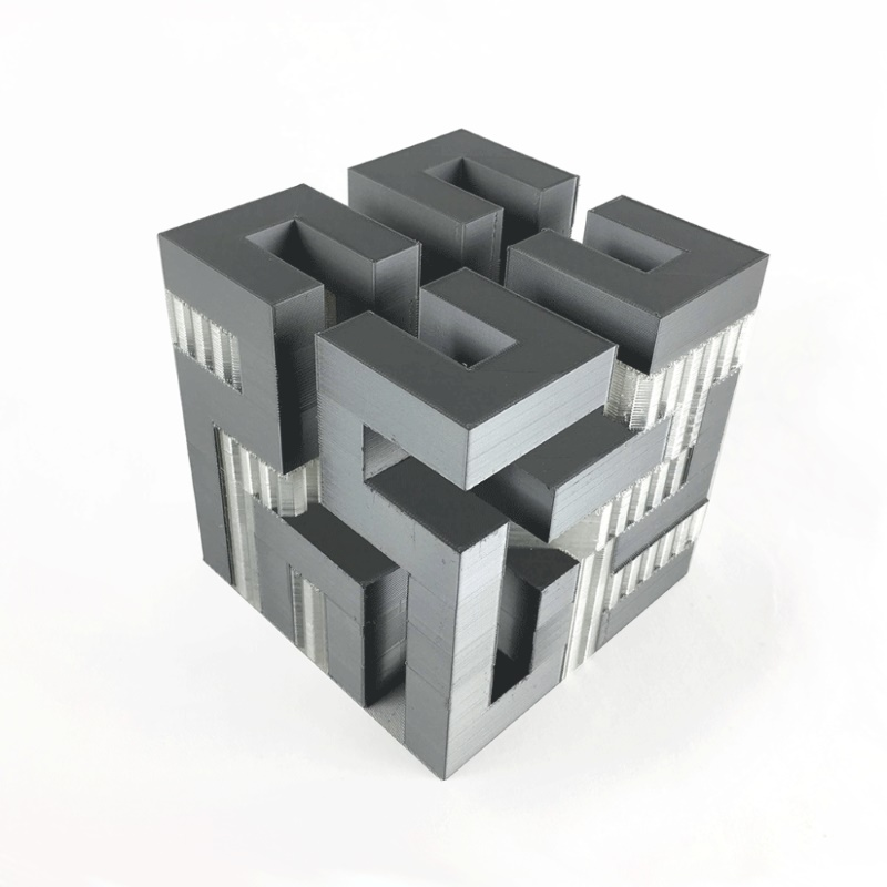Example printing with double extruder
