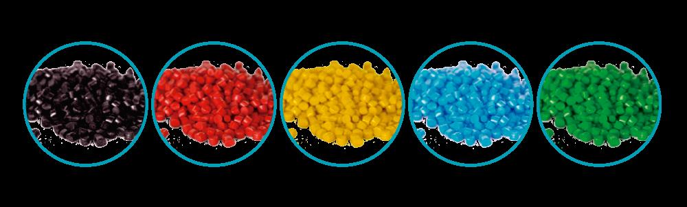 Colorantes para pellets.