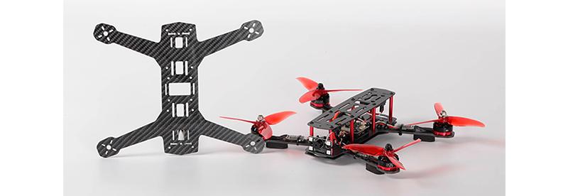 Drone made of carbon fibre sheets