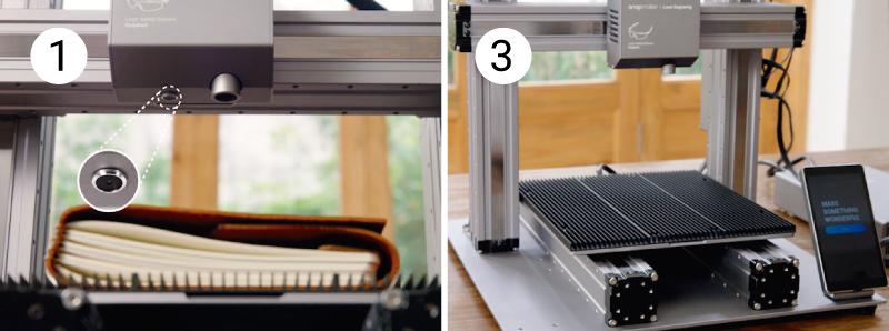 Built-in camera and aluminium grille