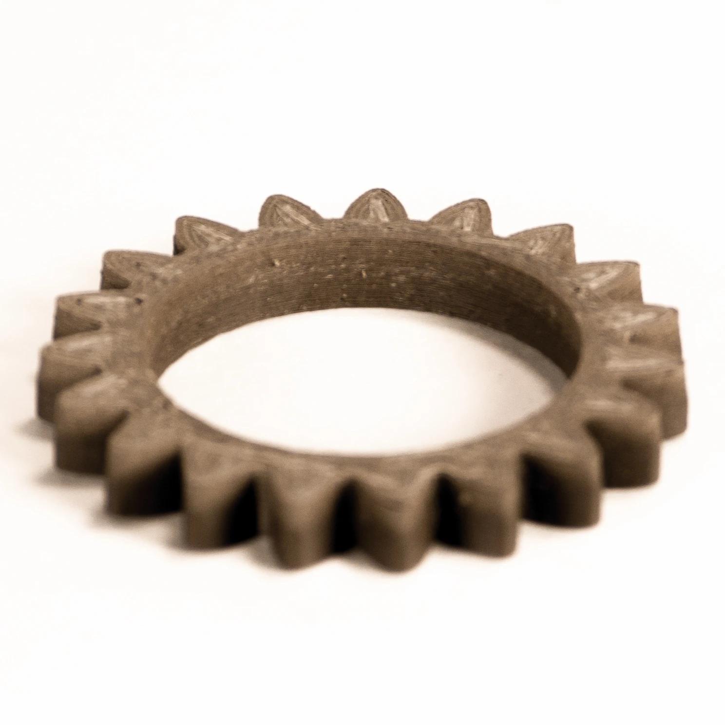 Engranaje fabricado con cobre sin sinterizar