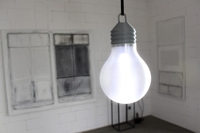 Light bulb printed with Z-Glass
