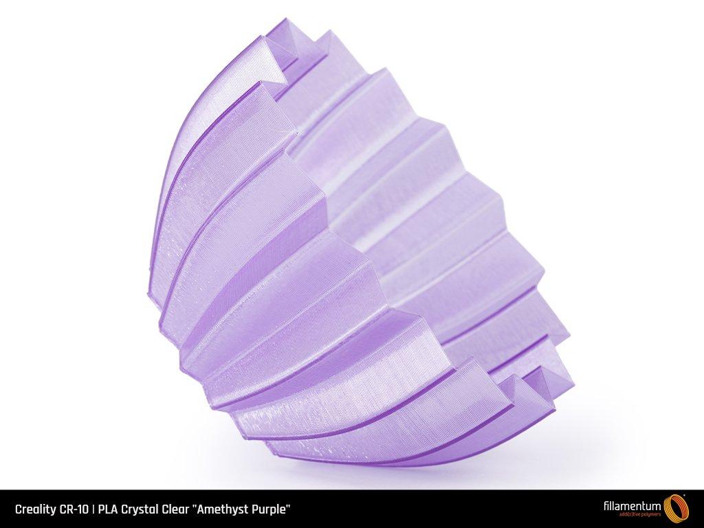Piece imprimée avec un filament PLA Translucide Violet.