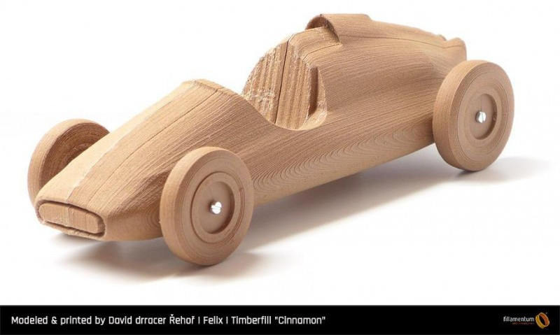 Printed with Timberfill Cinnamon