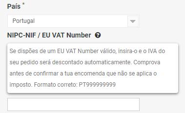 Introducir EU VAT Number