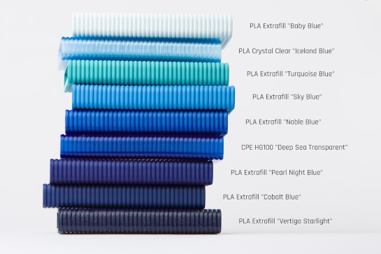 Color range of PLA Premium and CPE and its RAL and Pantone equivalence
