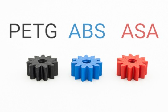 PETG vs ABS vs ASA